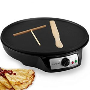 NutriChef Electric Crepe Maker Griddle, 12 inch Nonstick