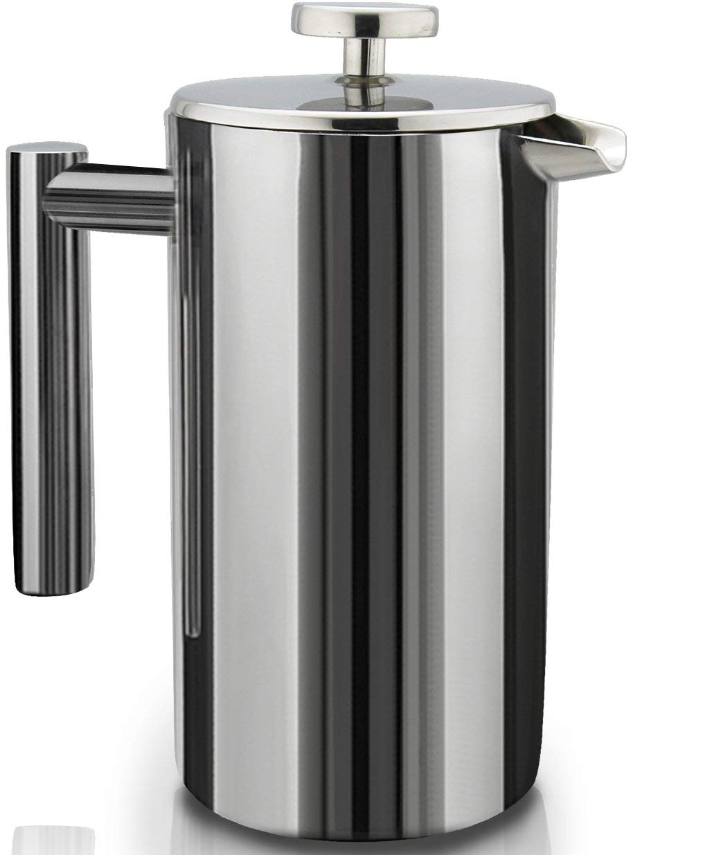 French Press Double-Wall Stainless Steel Mirror Finish Coffee